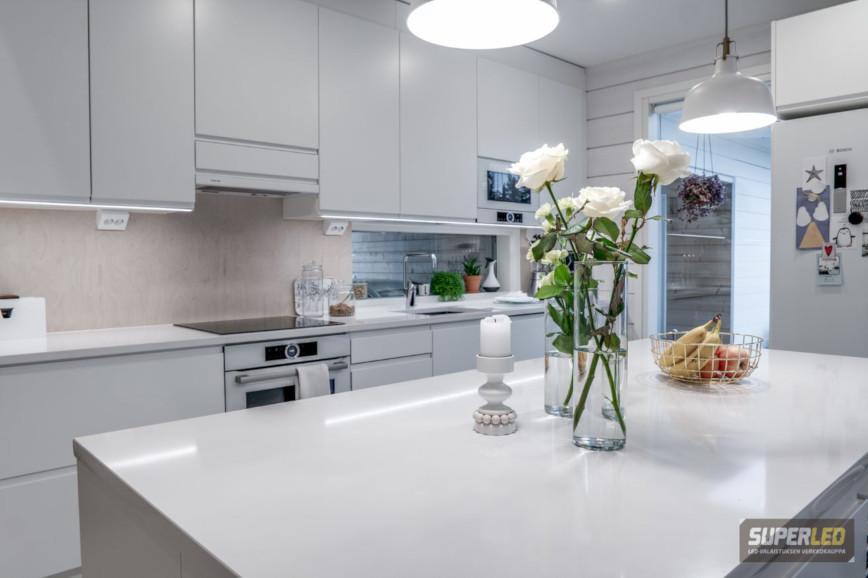 Keittiön led valaistuksen värintoistokyky kannattaa olla hyvä