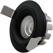 DALI himmennettävä, LED-Alasvalo, IP44, Ø95*47mm, 850/890 lm, 13W, musta kehys, Sharp COB LED