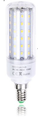 LED-E14, 1050lm, 10W, 360°, IP20, ⌀35x115mm