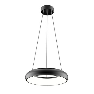 LED-riippuvalo, kattoon, 25W, 1850lm,Ø298*51mm, musta